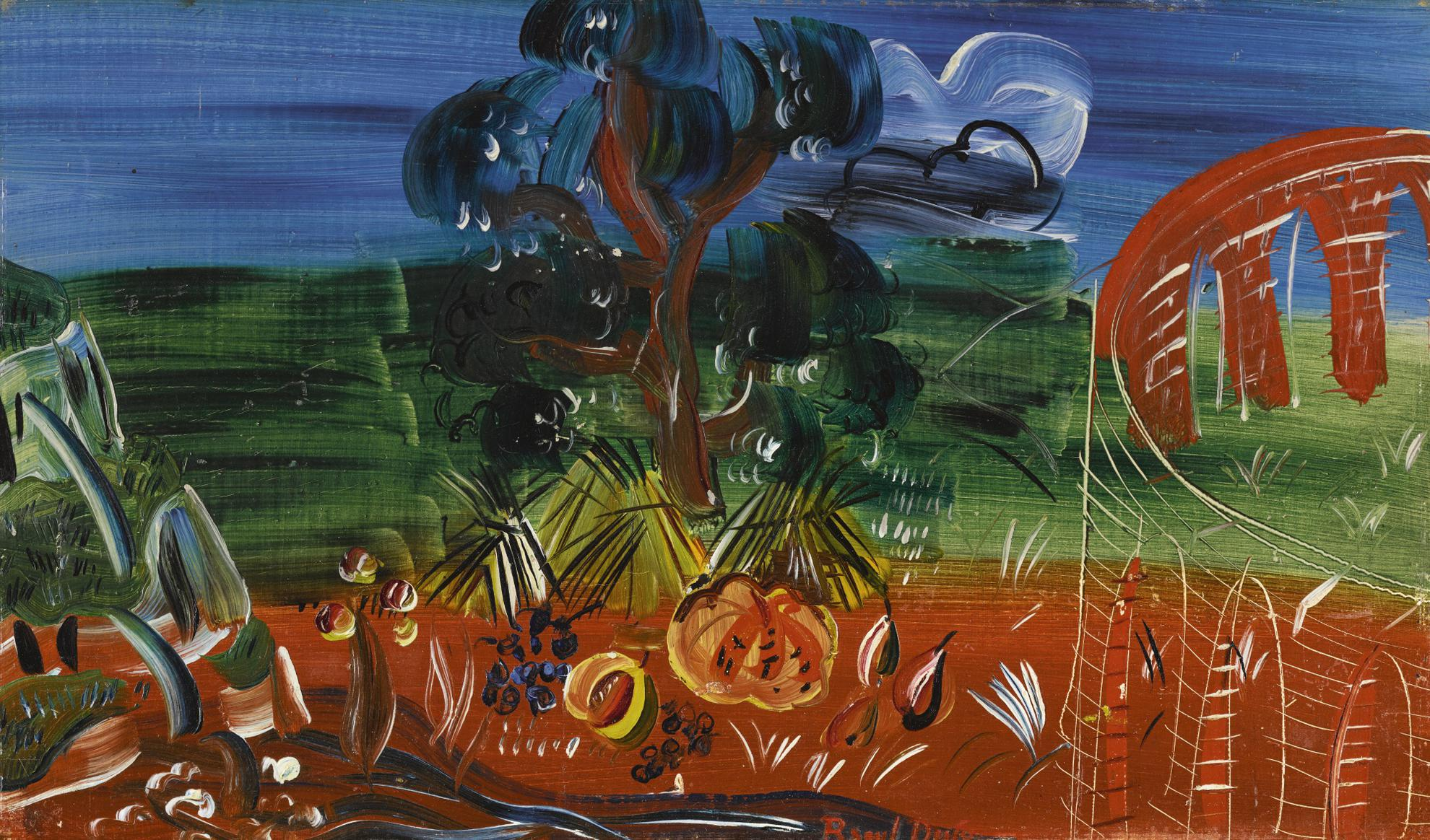 Raoul Dufy-Paysage A La Tour-