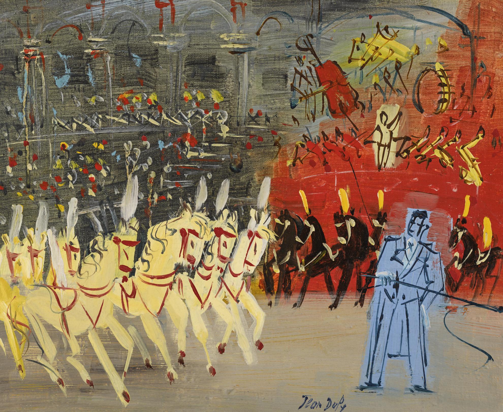 Jean Dufy-Chevaux En Liberte-1950