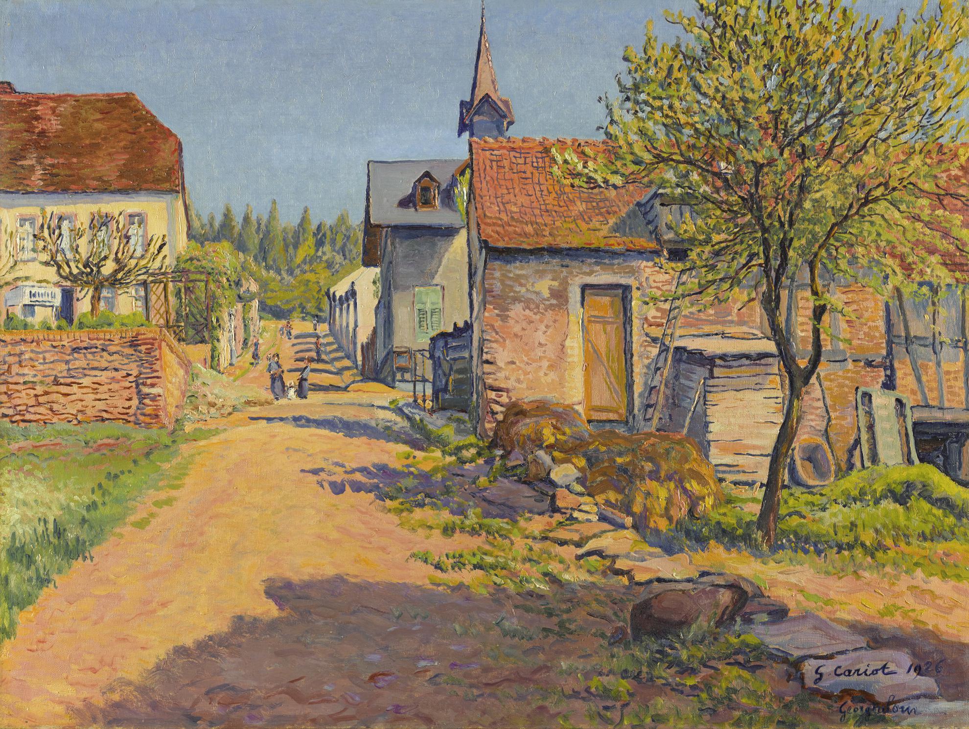 Gustave Cariot-Scene De Village, Georgenborn-1926