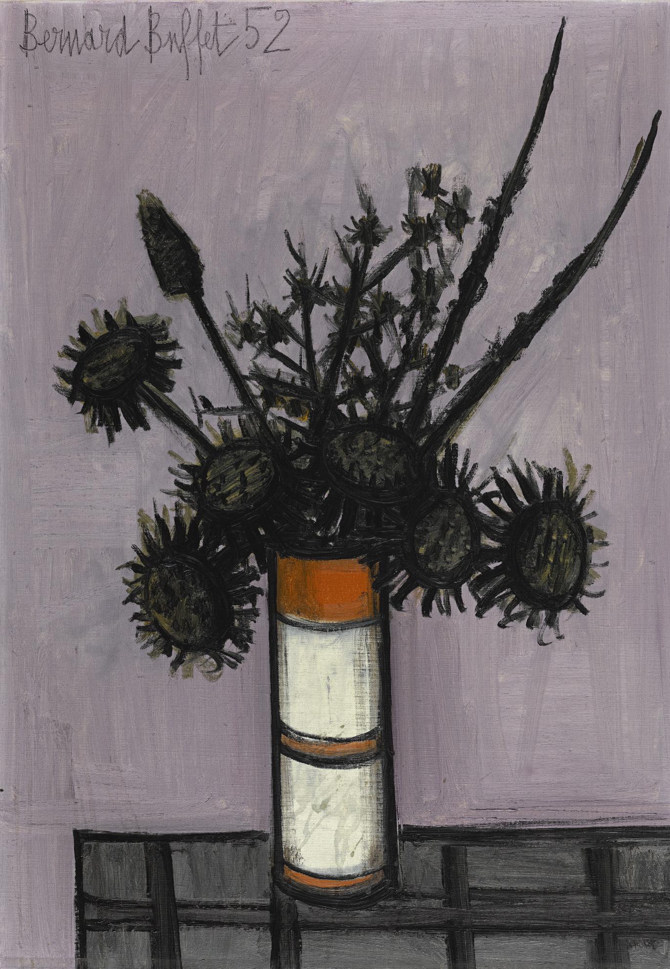 Bernard Buffet-Bouquet De Chardons-1952