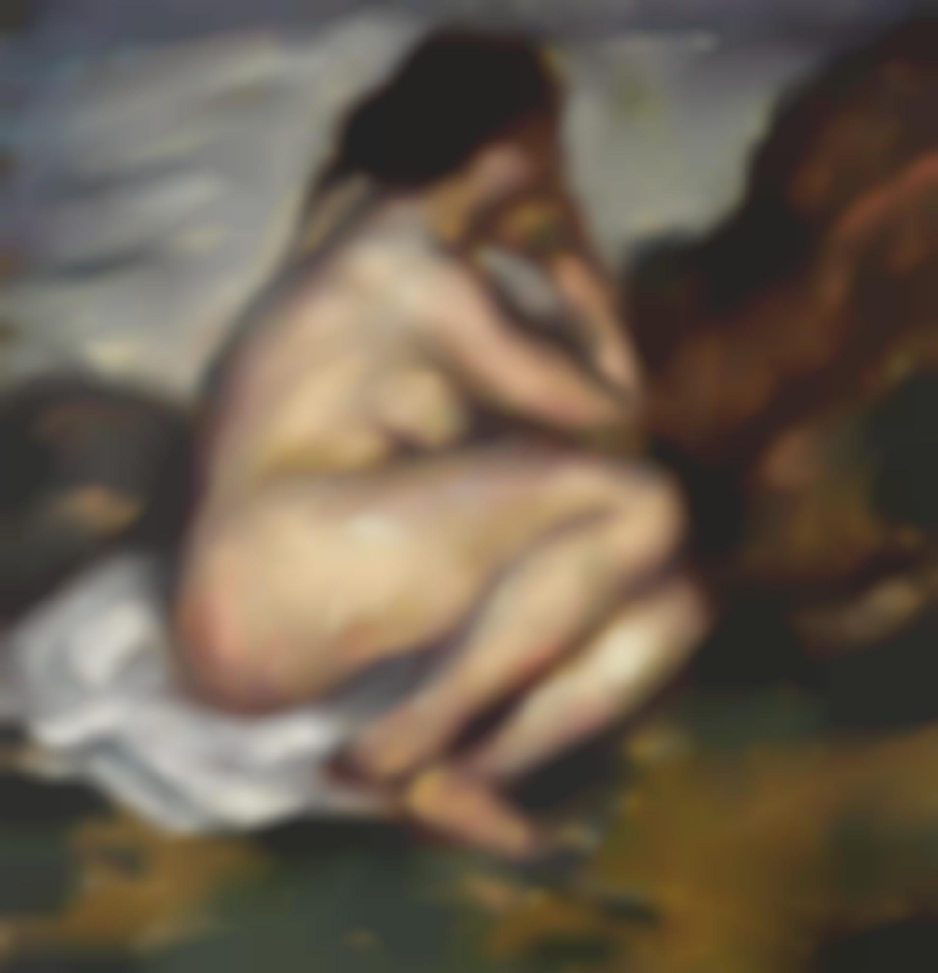 Karl Hofer-Sitzender Weiblicher Akt (Seated Female Nude)-1910