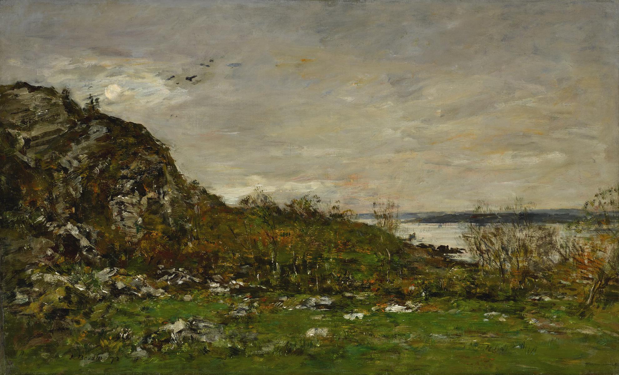 Eugene Louis Boudin-Embouchure De Lelorn Aux Environs De Brest-1872