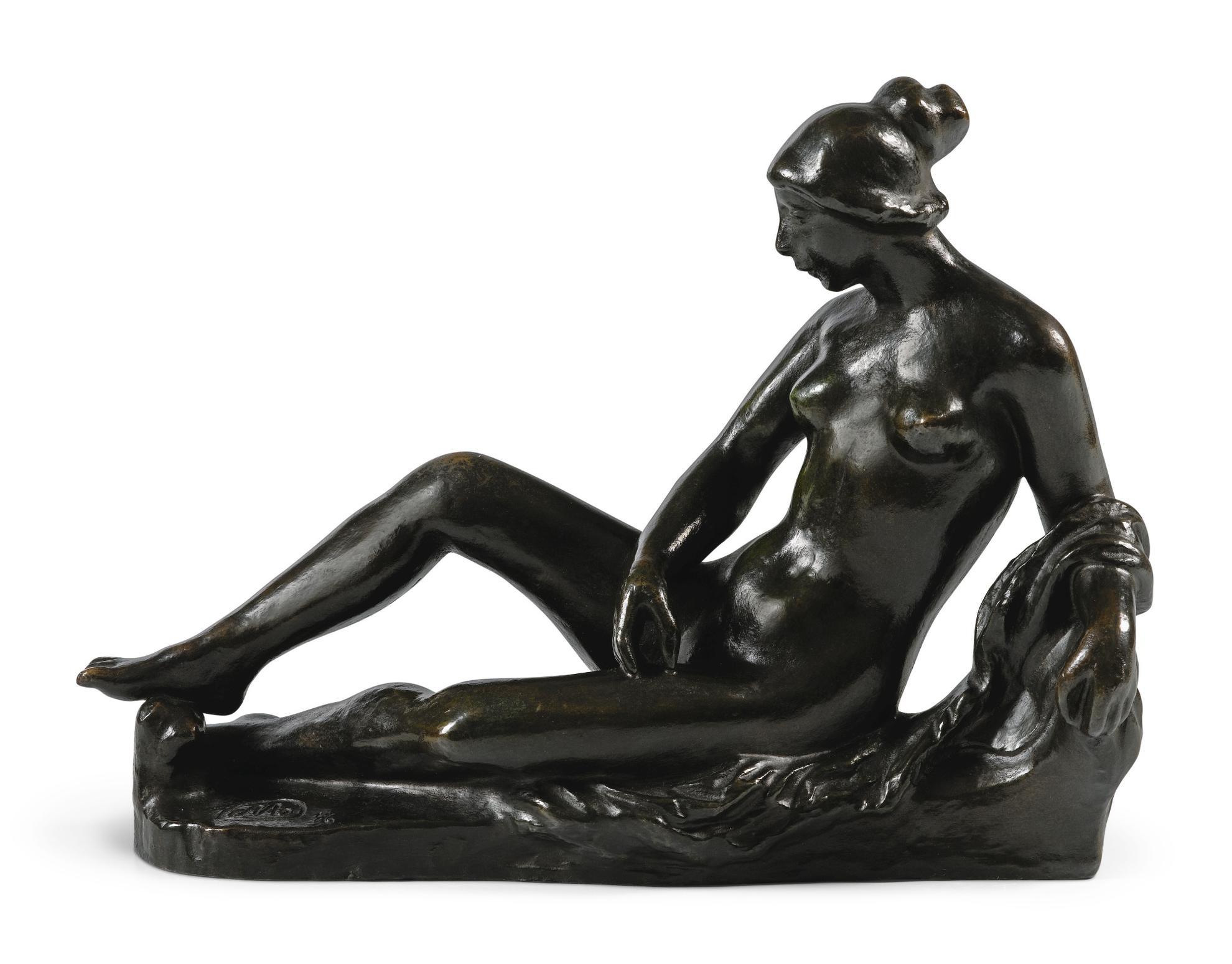 Aristide Maillol-Jeune Femme Au Bain (Etude Pour Le Monument A Cezanne)-1912