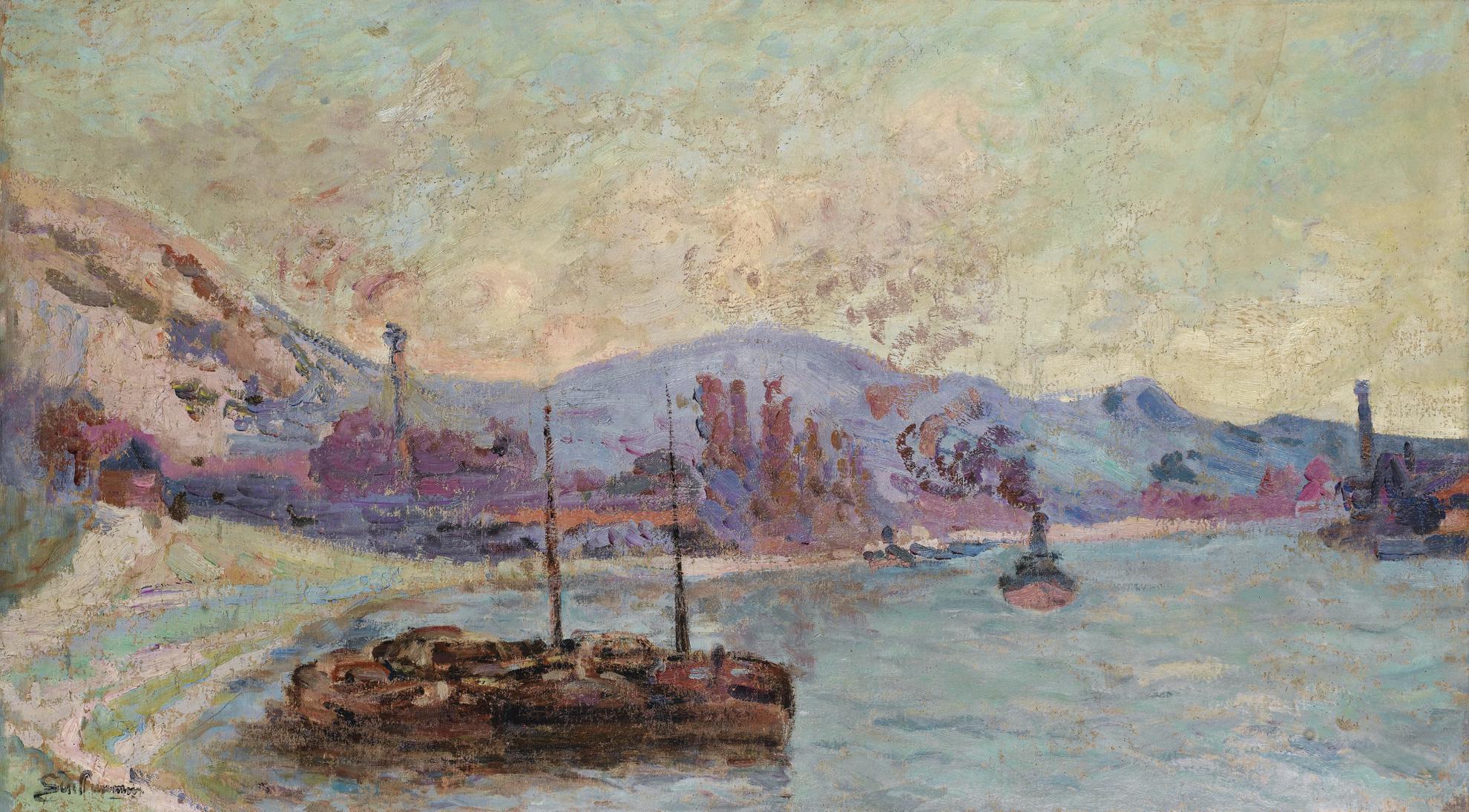 Jean-Baptiste Armand Guillaumin-Peniches Sur La Seine-1900