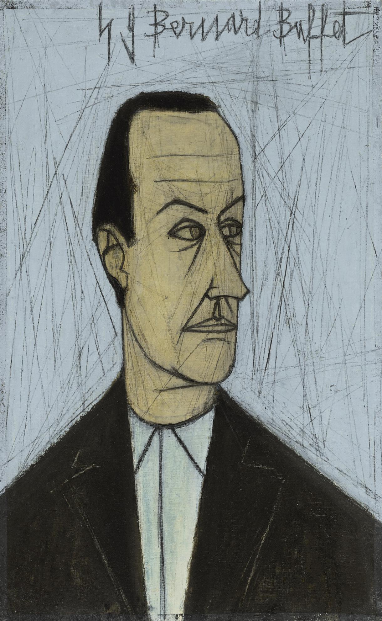 Bernard Buffet-Portrait De Jean Negulesco-1949