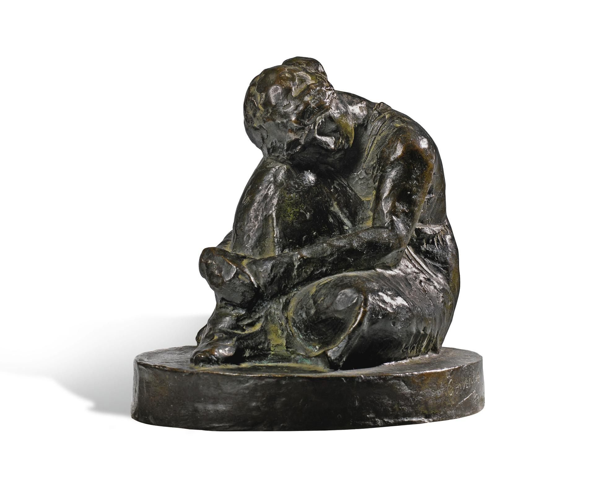 Julio Gonzalez-Femme Assise Penchee-1914