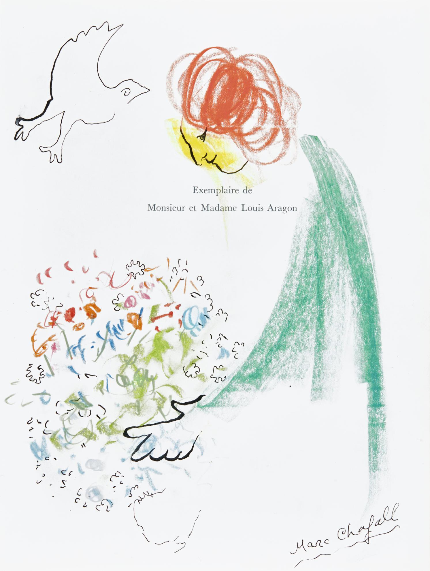 Marc Chagall-Offrande Pour Monsieur Et Madame Aragon-1968