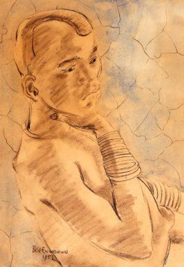 Benedict Chukwukadibia Enwonwu M.B.E - Fulani Girl-1952