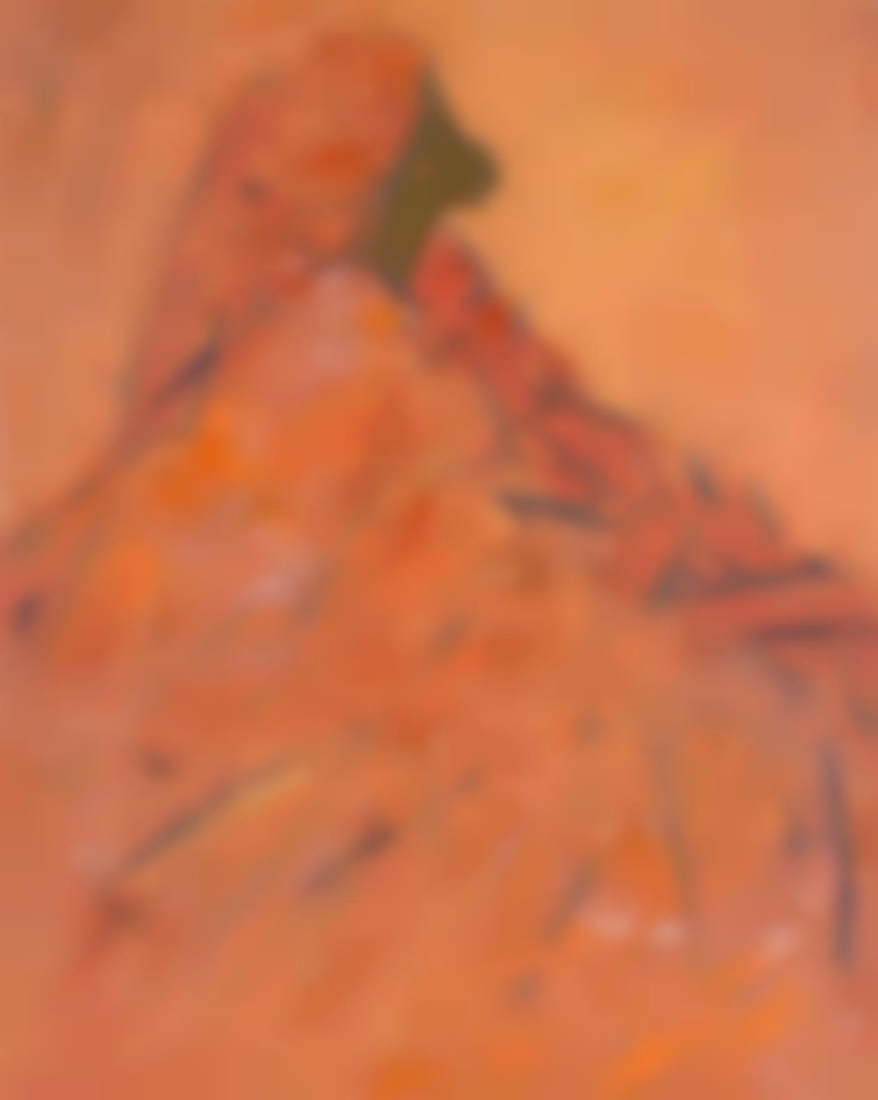 Ablade Glover-Orange Woman In Profile-1995