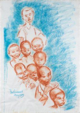 Benedict Chukwukadibia Enwonwu M.B.E - Children Of Onitsha-1959