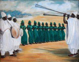 Akinola Lasekan - Yoruba Drummers And Dancers-1970