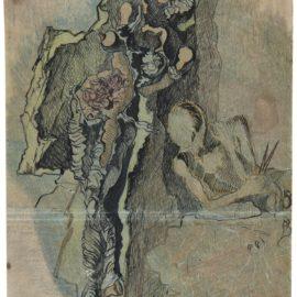 Salvador Dali-Etude Pour Gradiva-1931