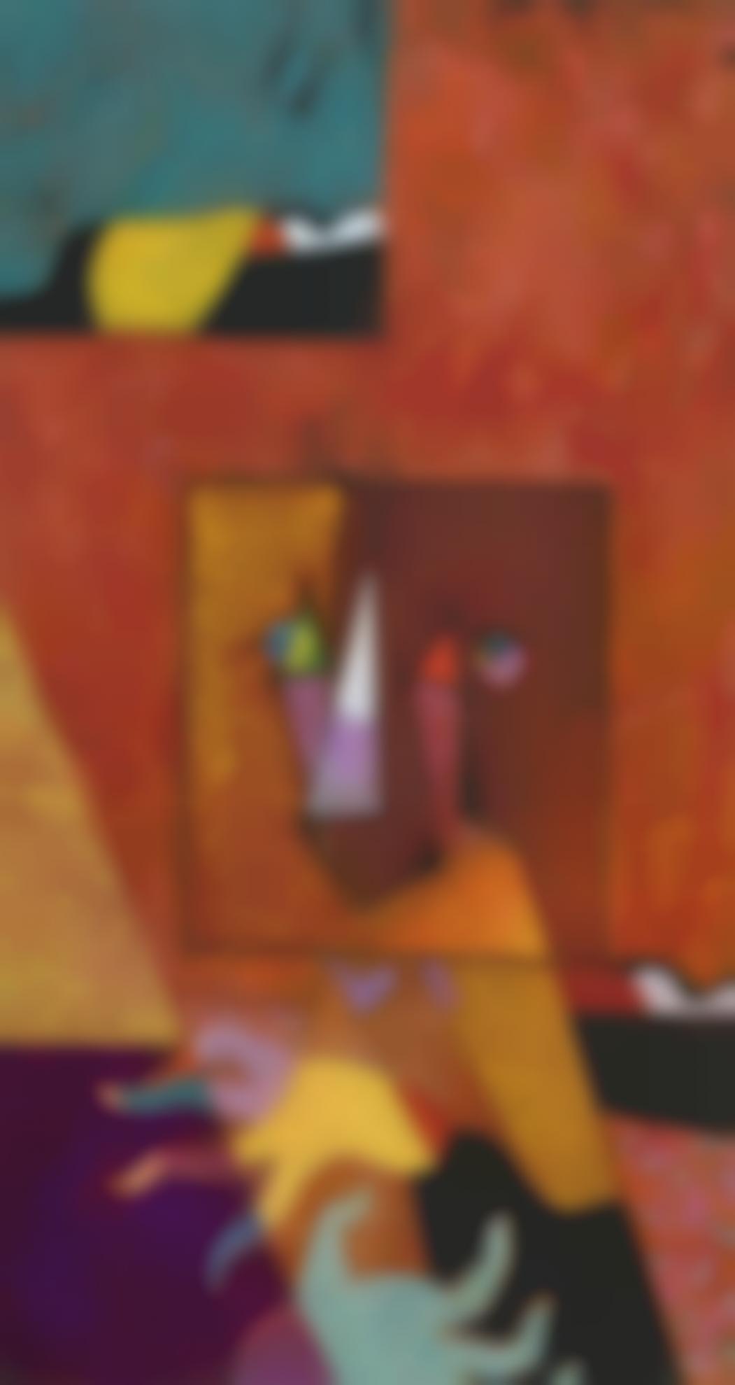 Max Ernst-Portrait De Joan Miro, Peintre Benit-1948