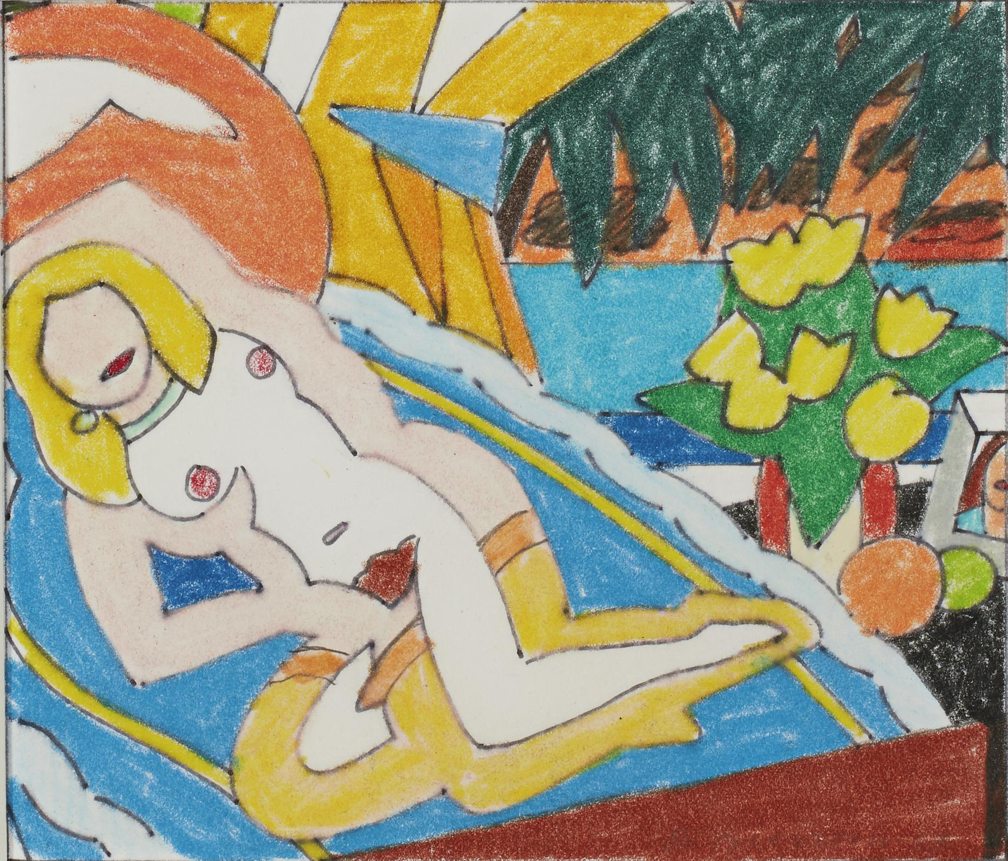 Tom Wesselmann-Study For Sunset Nude (Knees Up)-2003