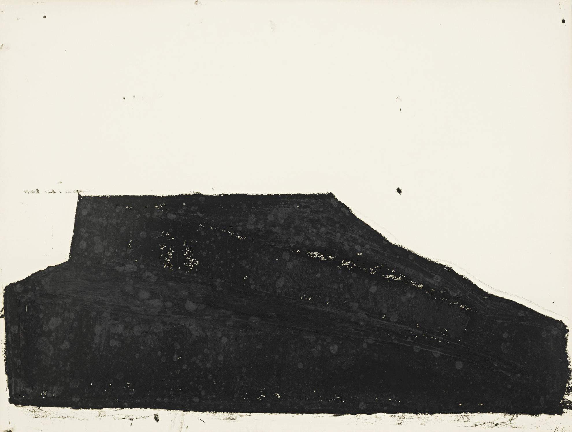 Richard Serra-Study For Flat Rock-1981