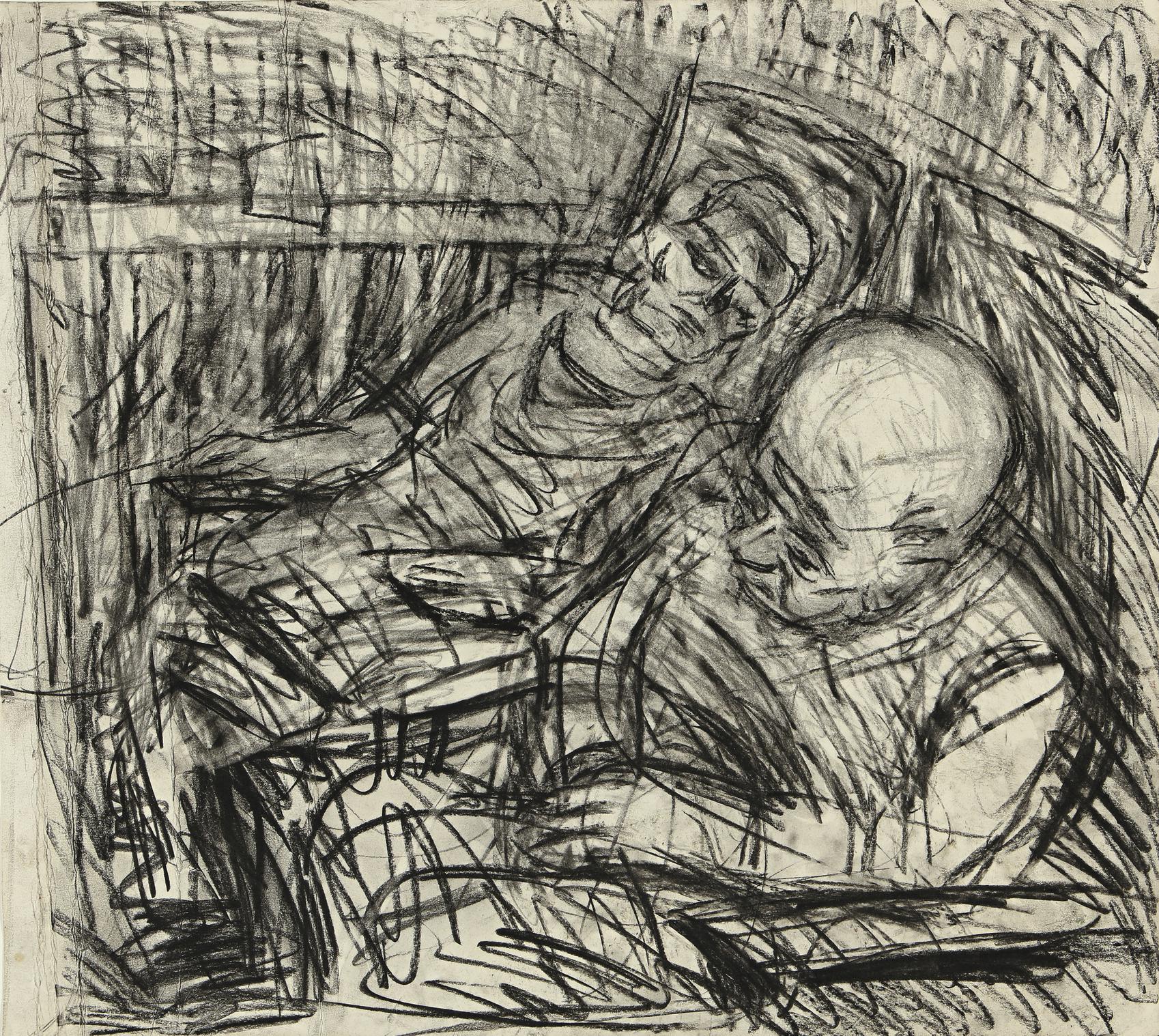 Leon Kossoff-Two Seated Figures V-1980