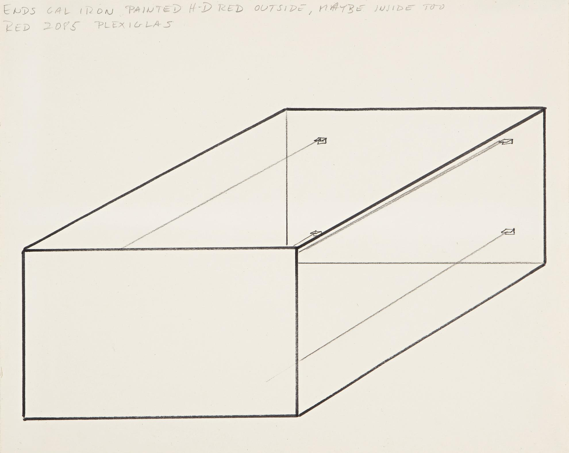 Donald Judd-Study For An Untitled Sculpture-1965