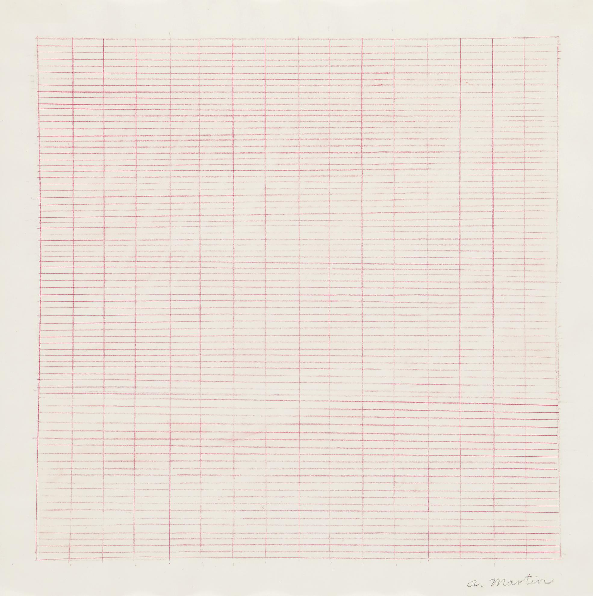 Agnes Martin-Untitled-1980