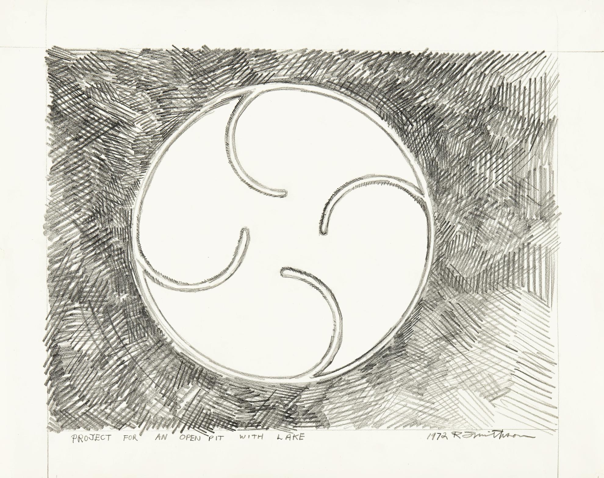 Robert Smithson-Project For An Open Pit With Lake-1972