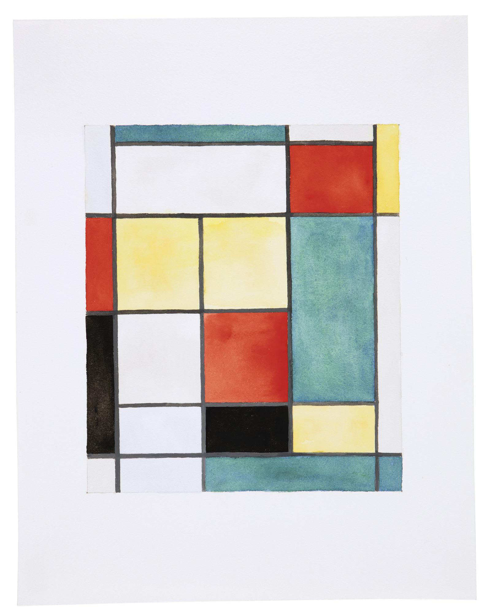 Sherrie Levine-After Mondrian-1984