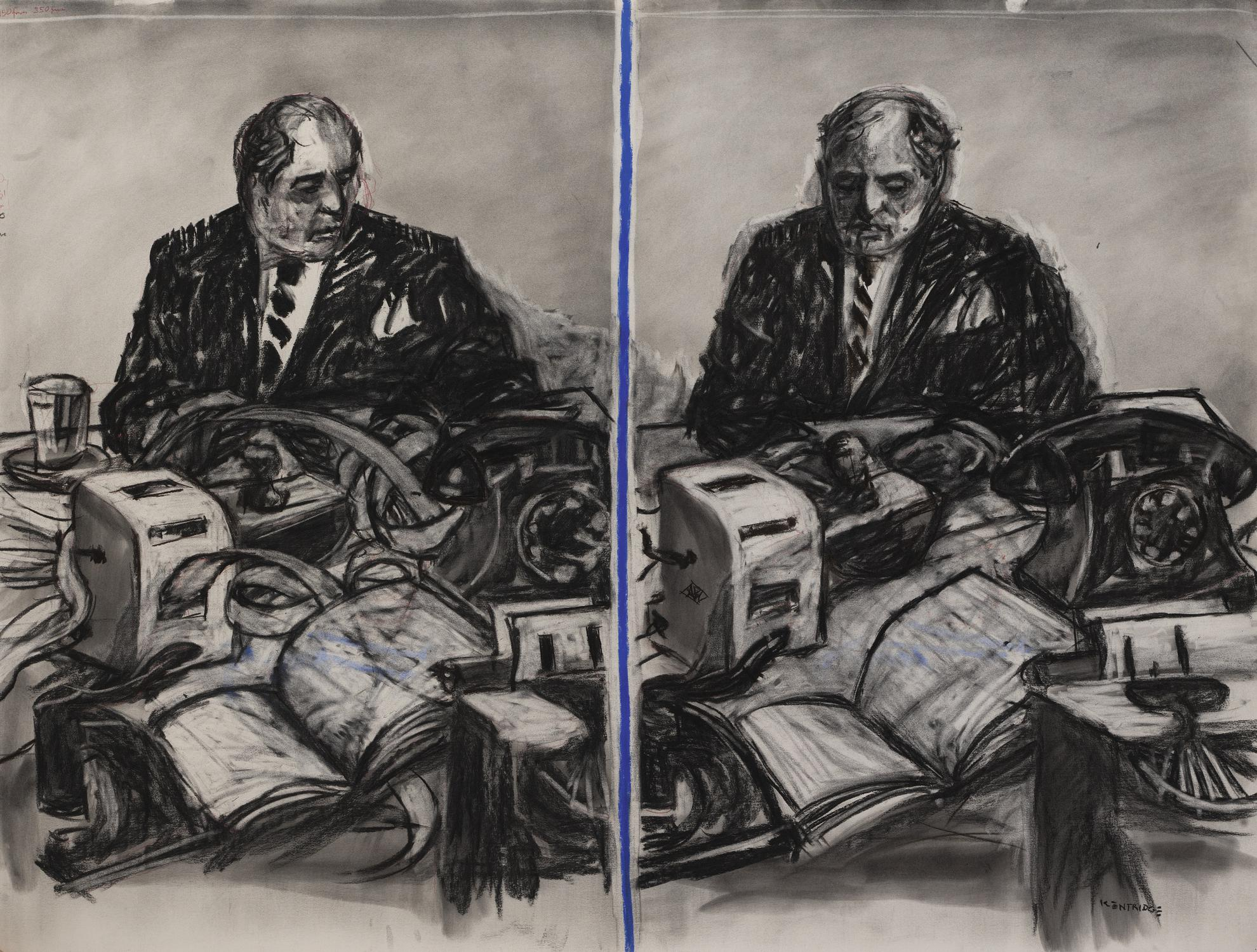 William Kentridge-Drawing For Stereoscope, Drawing #6425-1999