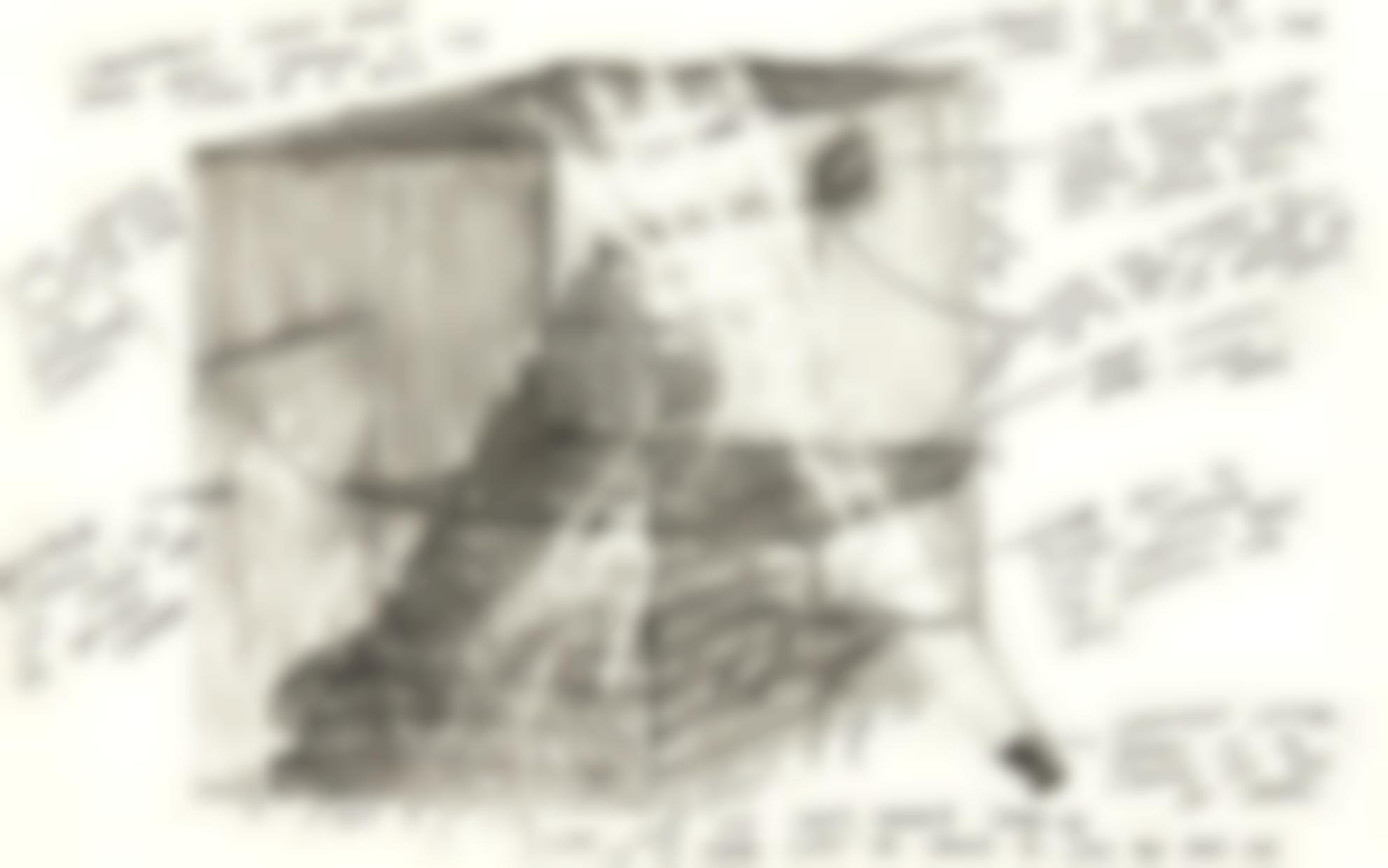 Vito Acconci-Views Of A Landing Preparatory Drawing-1974