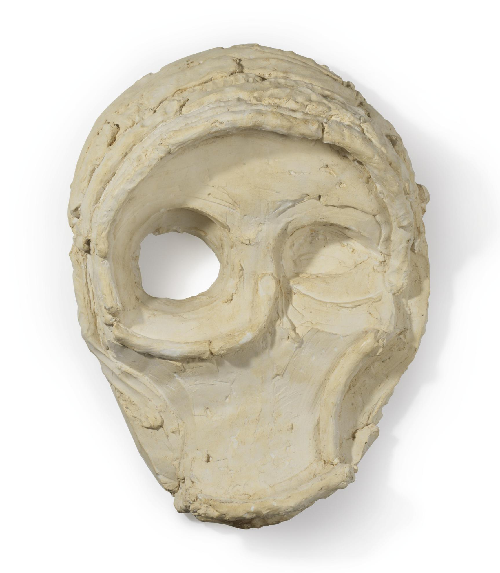 Thomas Houseago-Untitled (Clay Mask)-2010