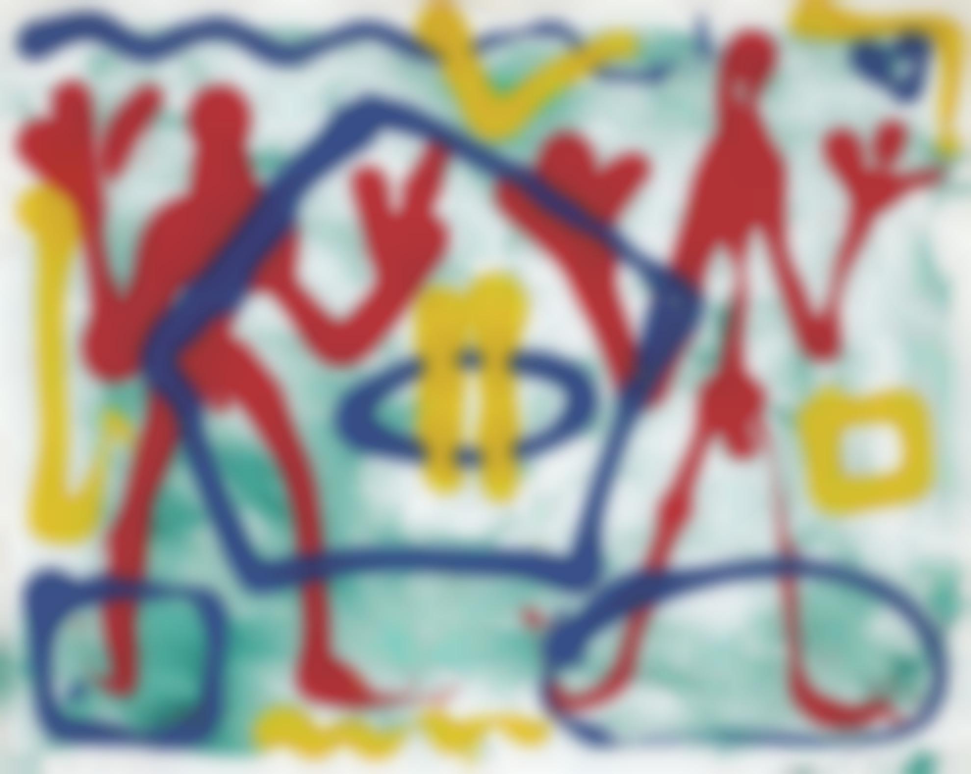 A.R. Penck-Pentagon Nr. 6-1983