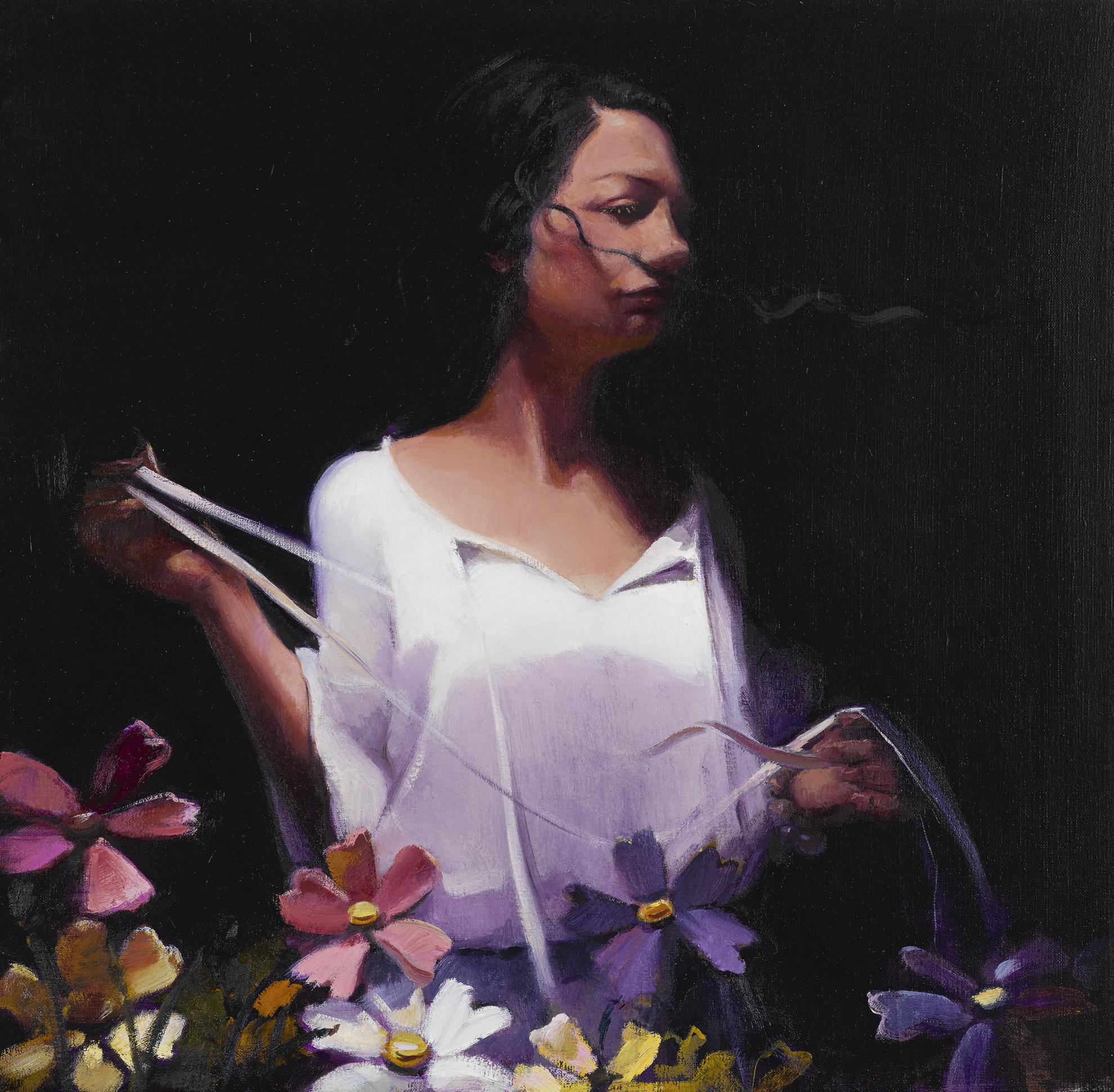 Lisa Yuskavage-G. With Flowers-2003