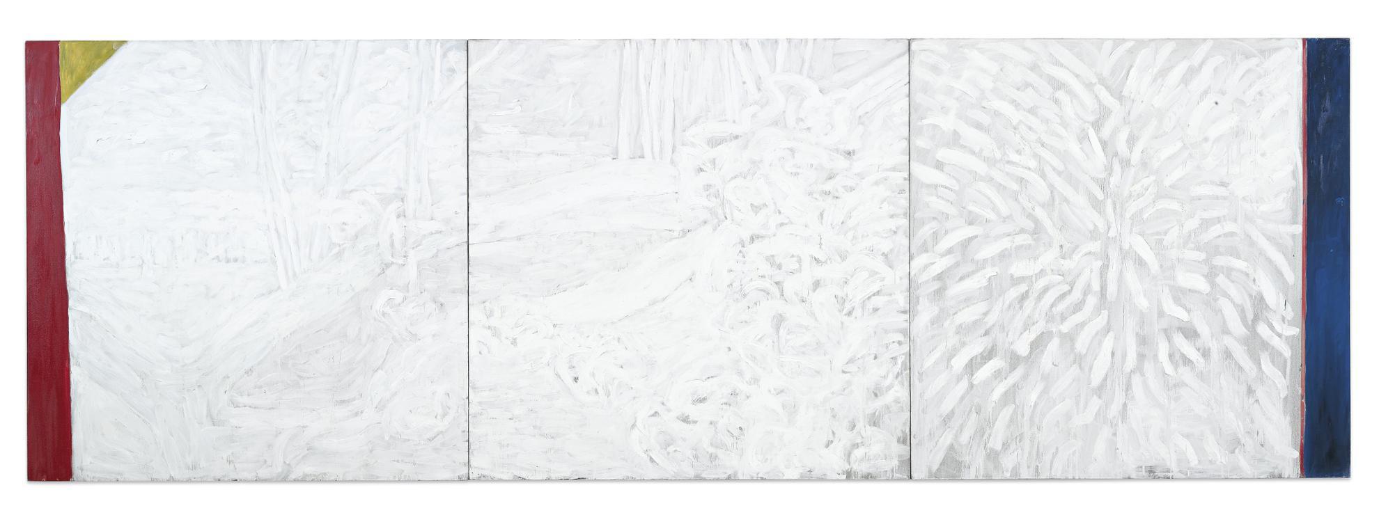 Pat Steir-Zen Tree [Triptych]-1983