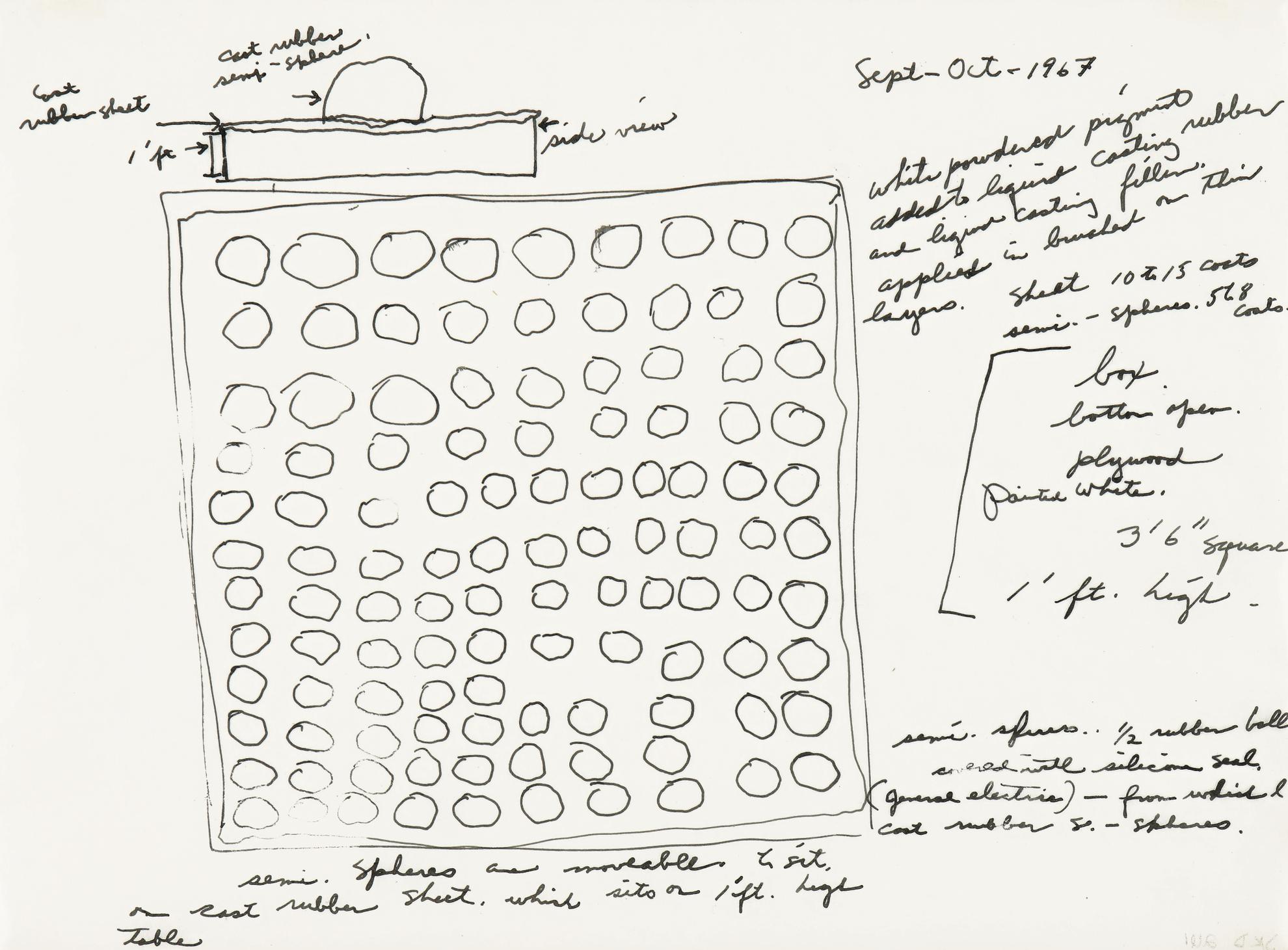 Eva Hesse-Study For Schema-1967