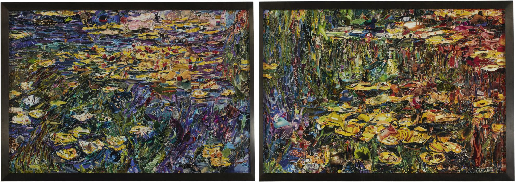 Vik Muniz-Nympheas, After Claude Monet (From Pictures Of Magazines 2)-2013