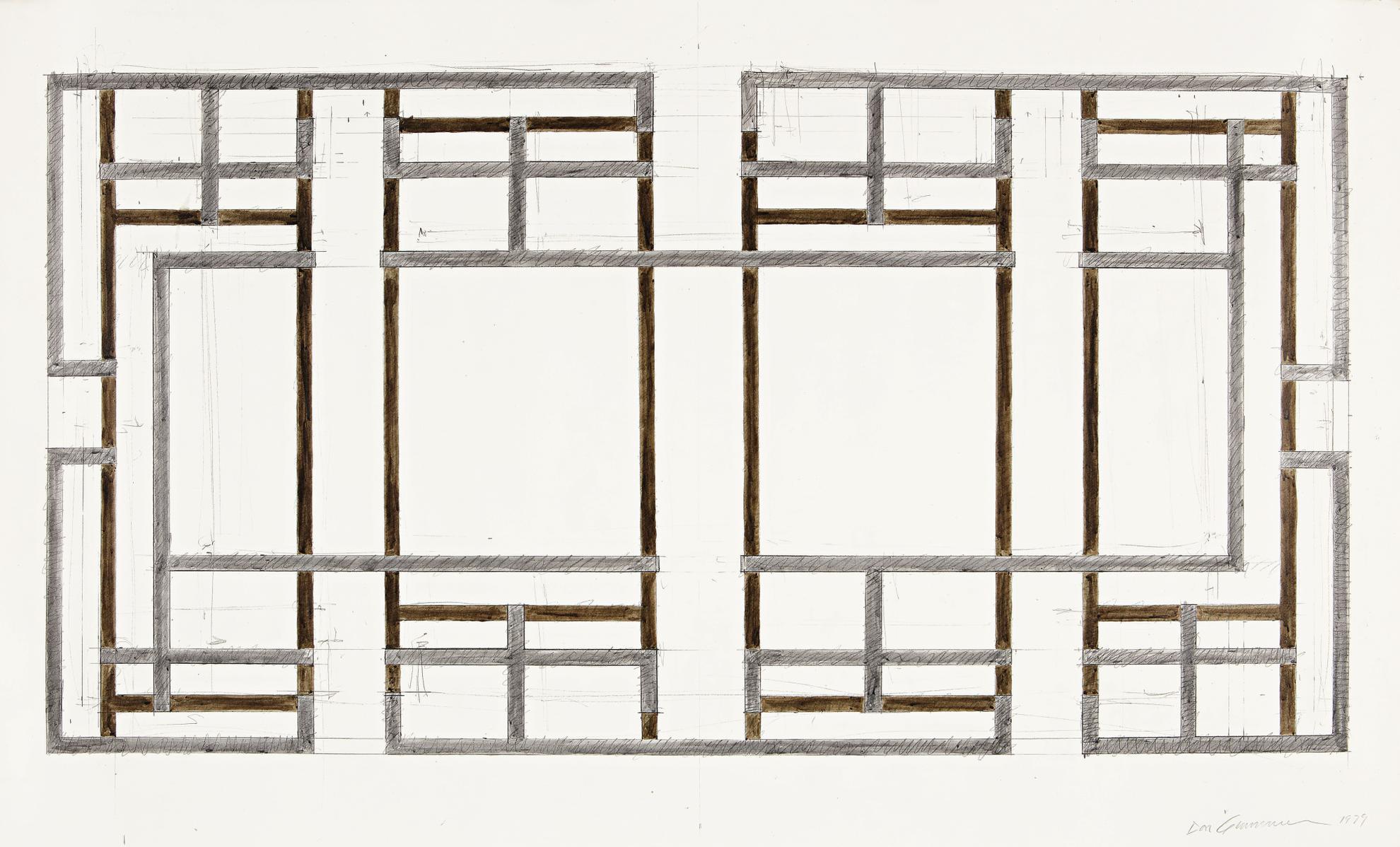 Don Gummer - Study For An Unexecuted Sculpture-1979