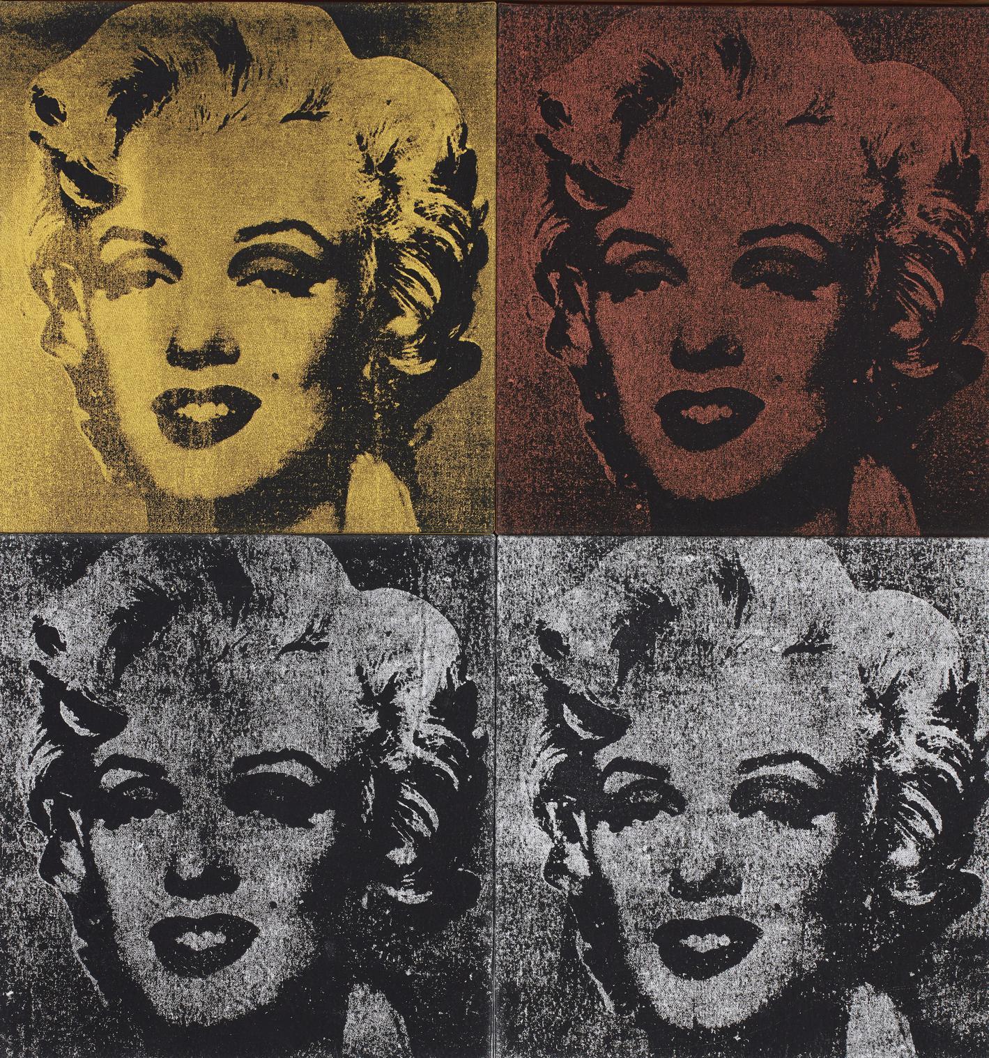 Mike Bidlo-Not Warhol (Four Marilyns)-1984