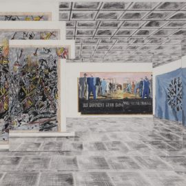 Art & Language-Study For Index: Incident In A Museum IV-1985
