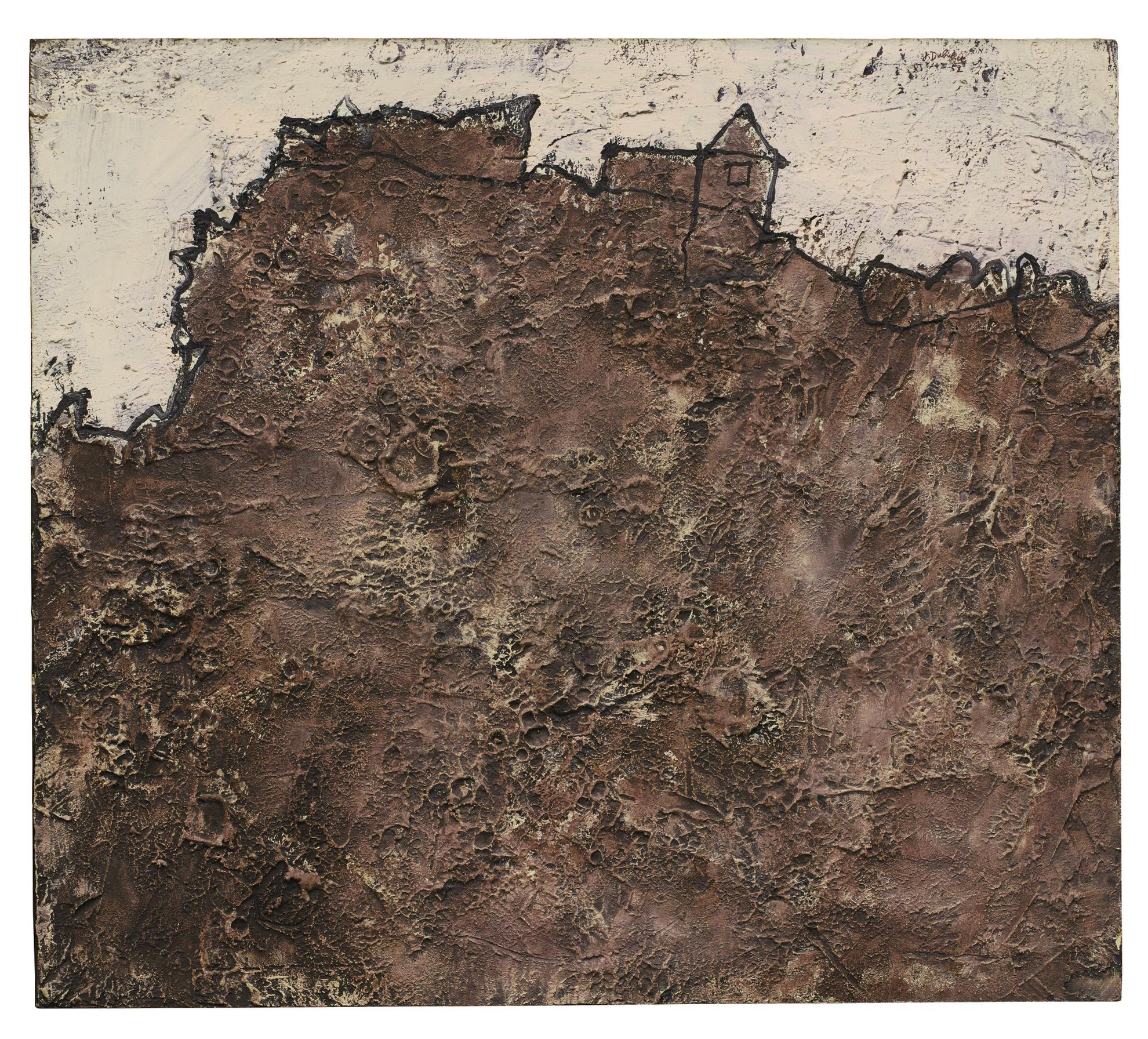 Jean Dubuffet-La Maison Abandonnee-1952