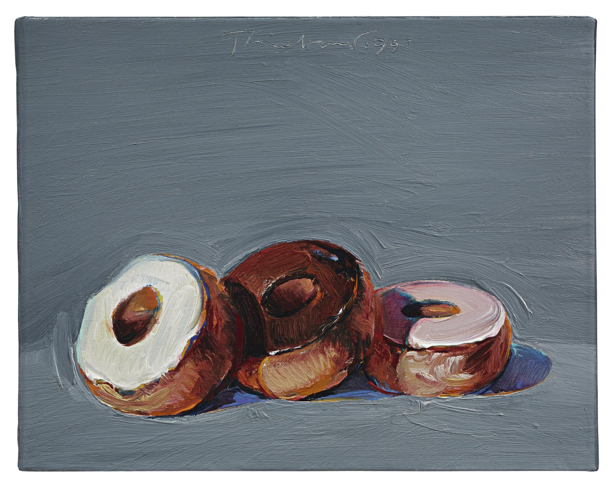Wayne Thiebaud-Three Donuts-1994