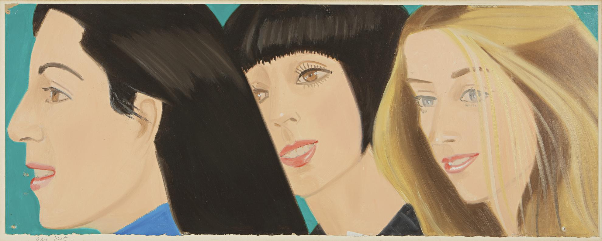 Alex Katz-Maquette For Times Square Billboard-1976