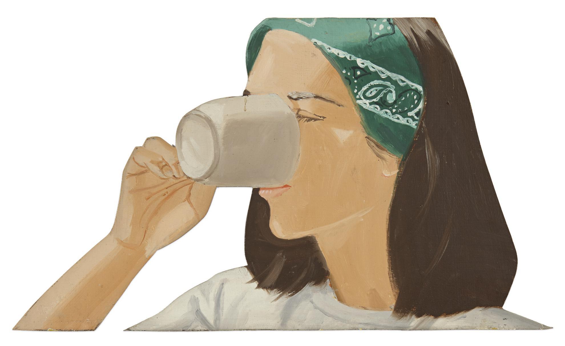 Alex Katz-Ada With Coffee Ii-1977