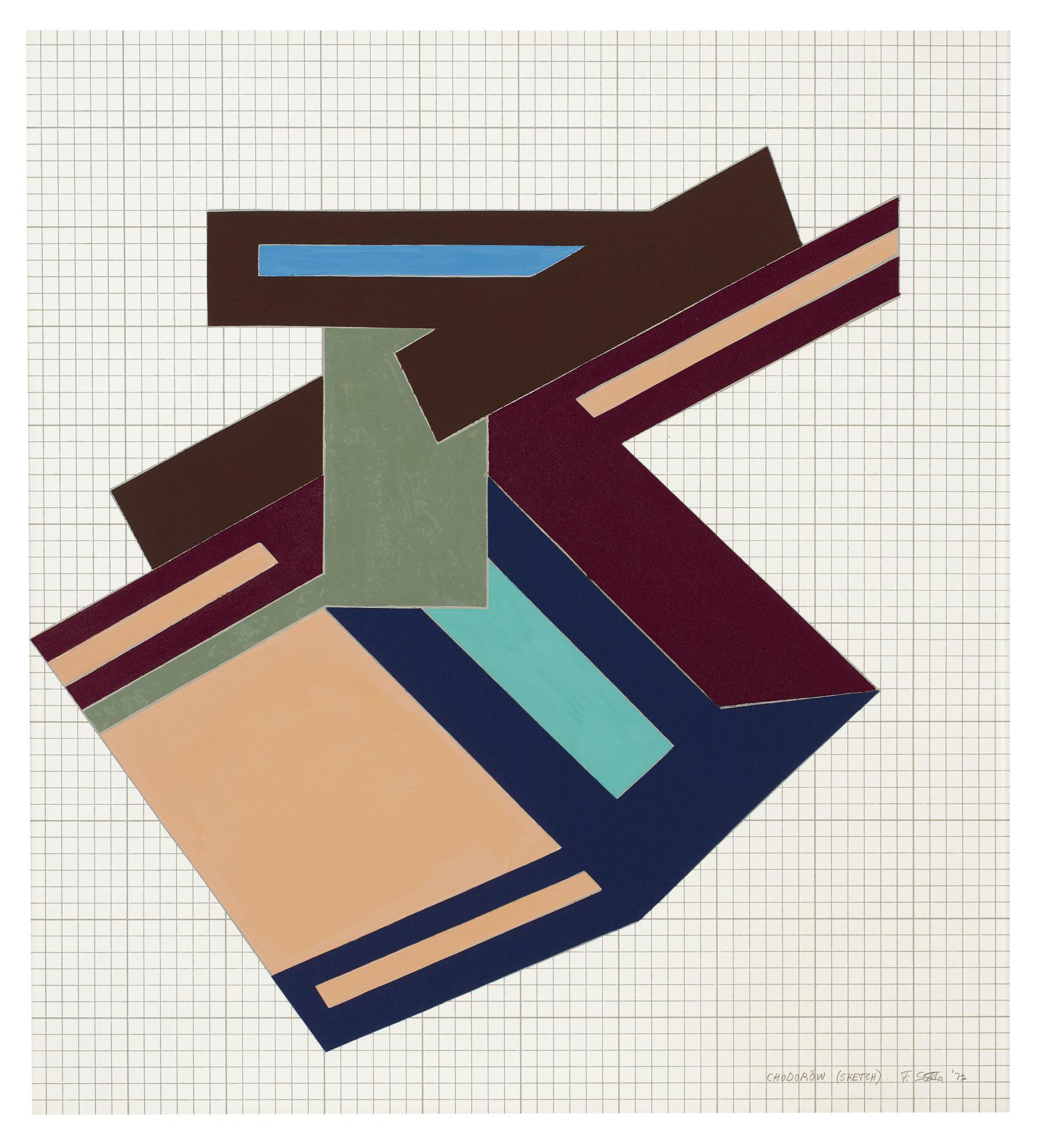 Frank Stella-Chodorow (Sketch)-1972