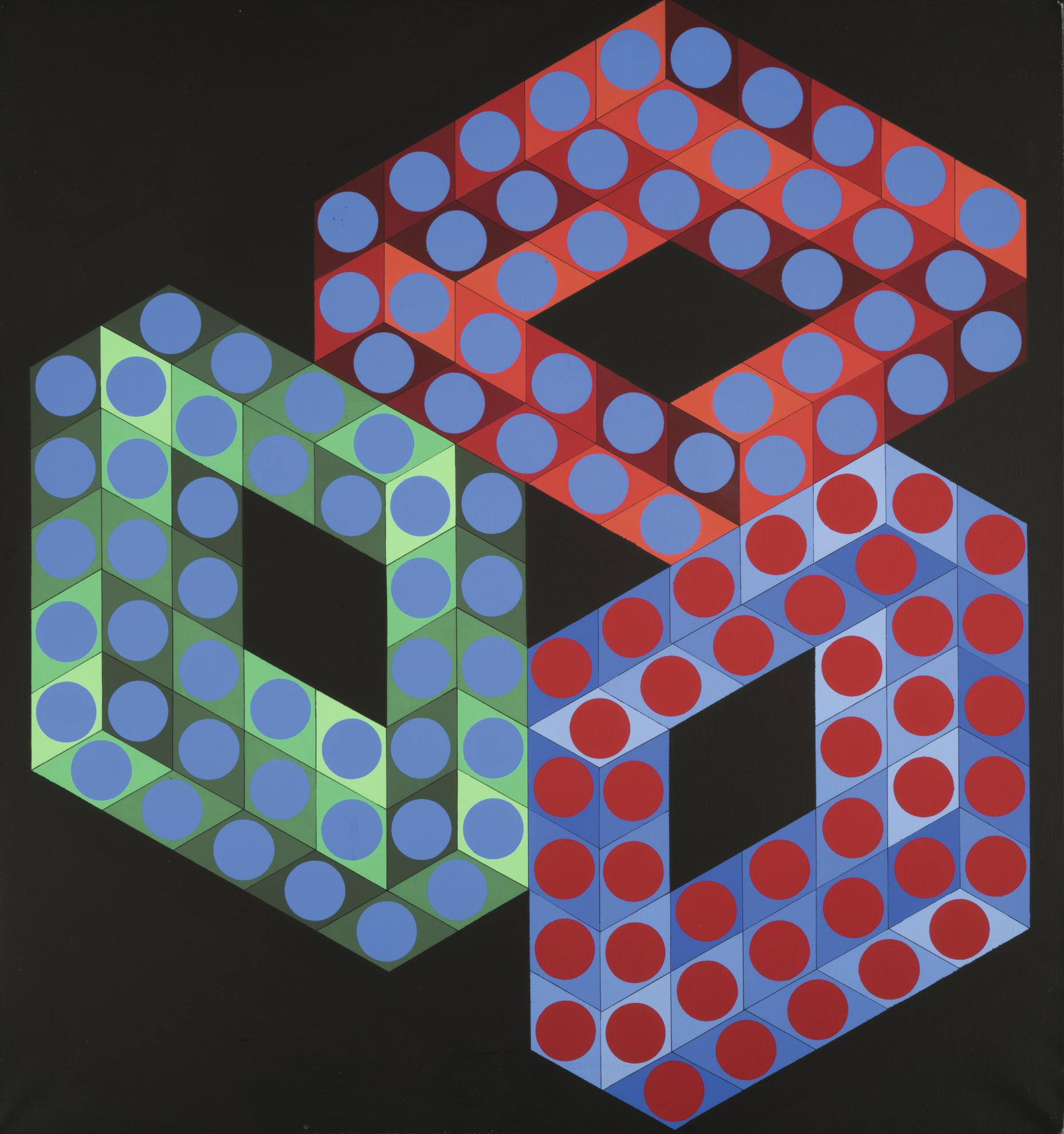 Victor Vasarely-Oslop-X-2-1984