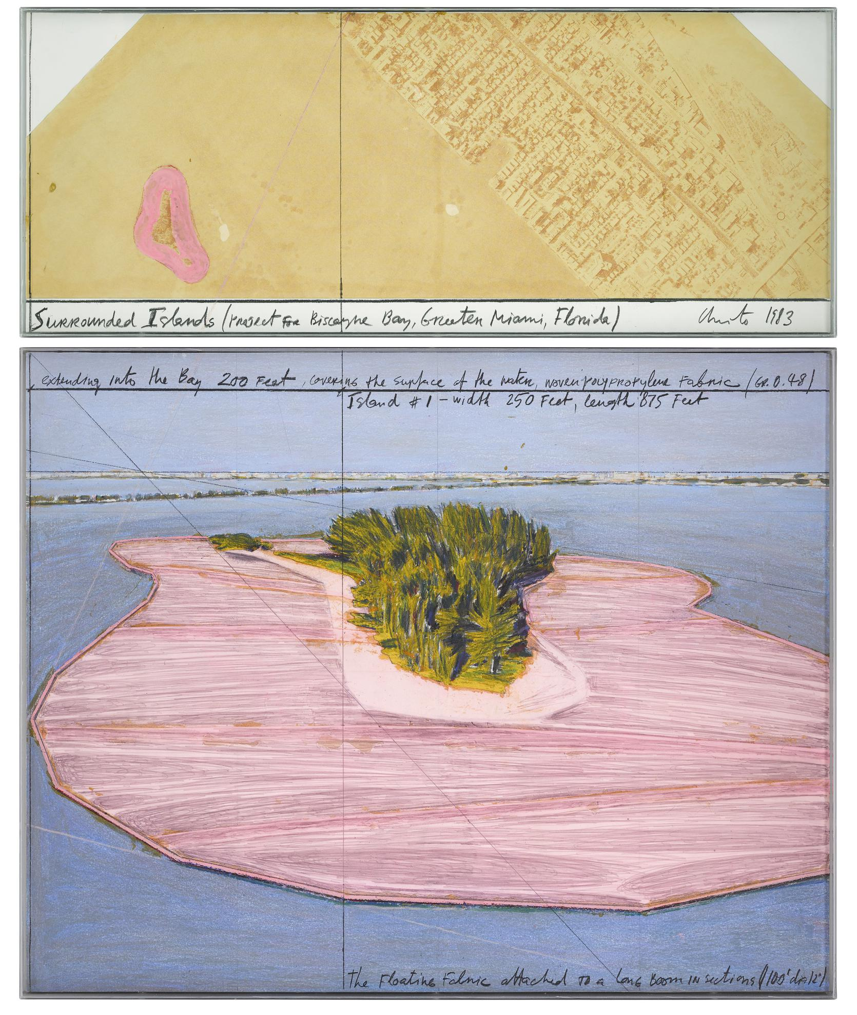 Christo And Jeanne-Claude - Surrounded Islands (Project For Biscayne Bay, Greater Miami, Florida)-1983