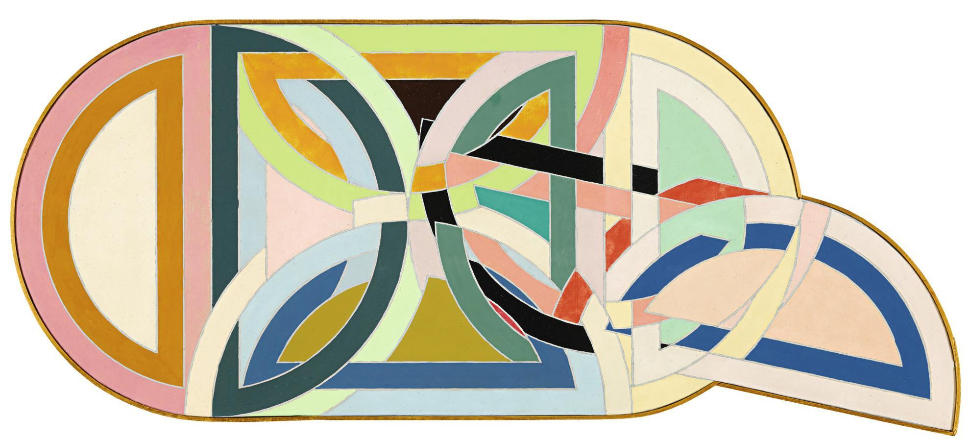 Richard Pettibone-Frank Stella Protractor Configuration #2-1971