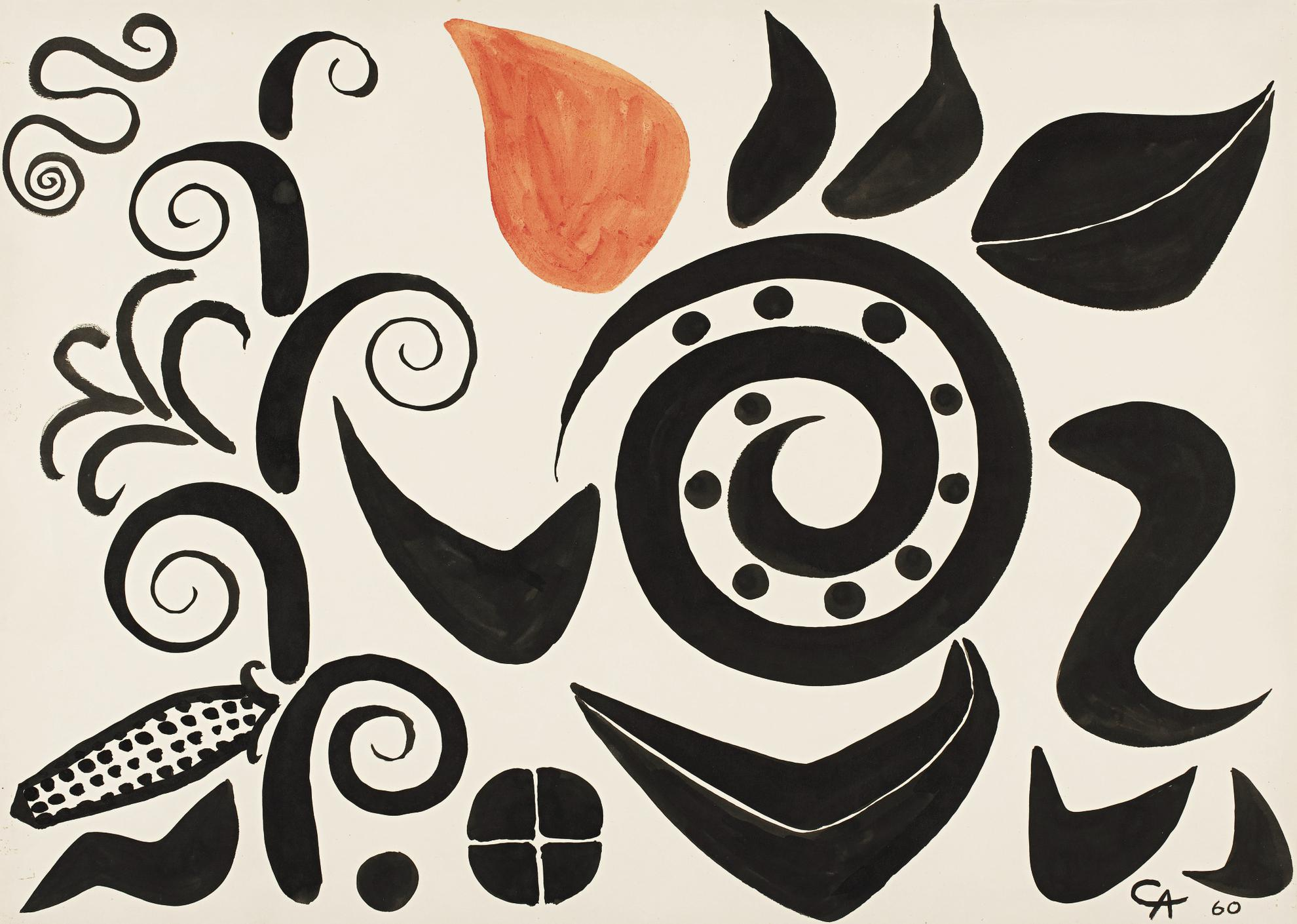 Alexander Calder-Corn On The Cob-1960