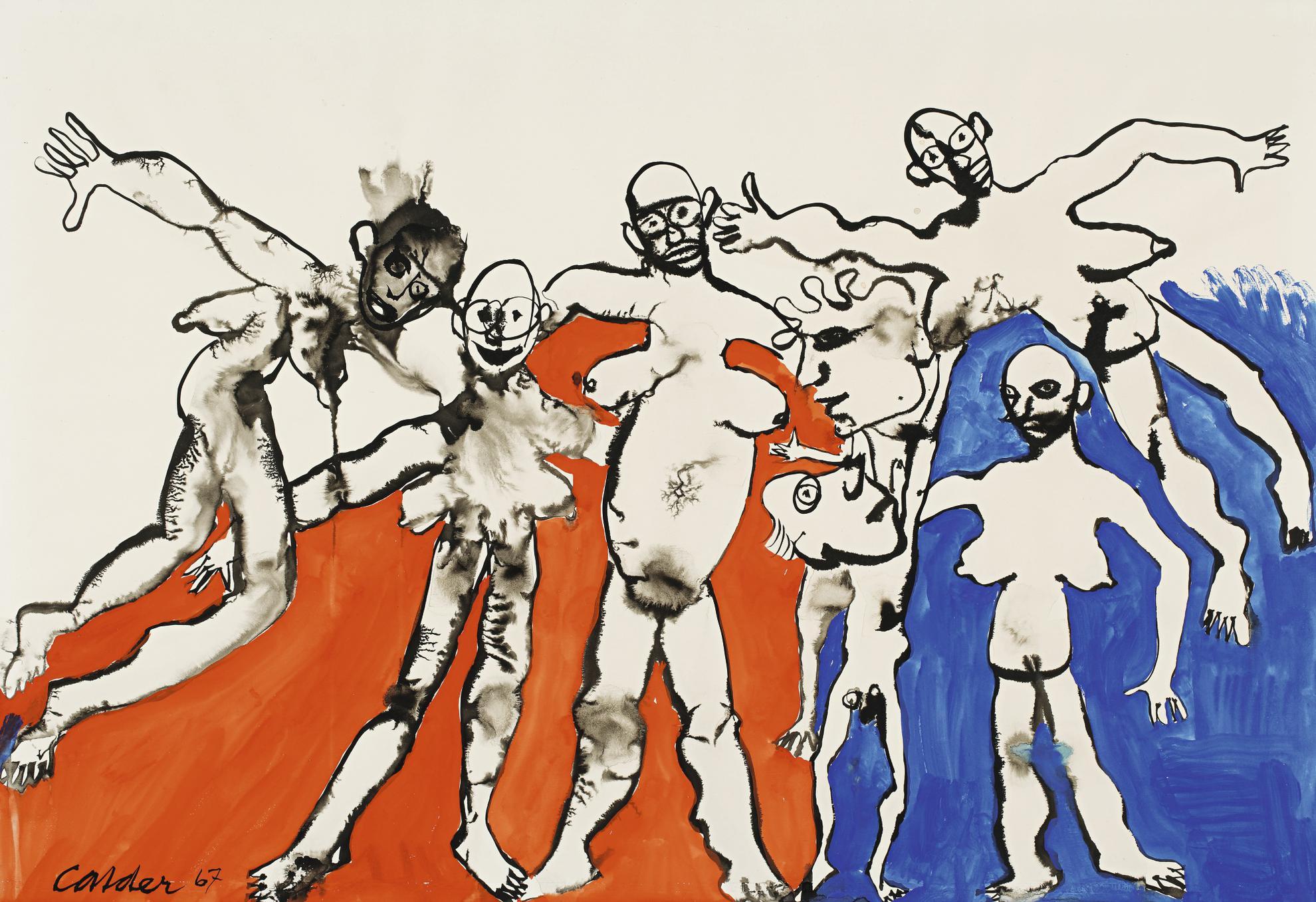 Alexander Calder-Balloon People-1967