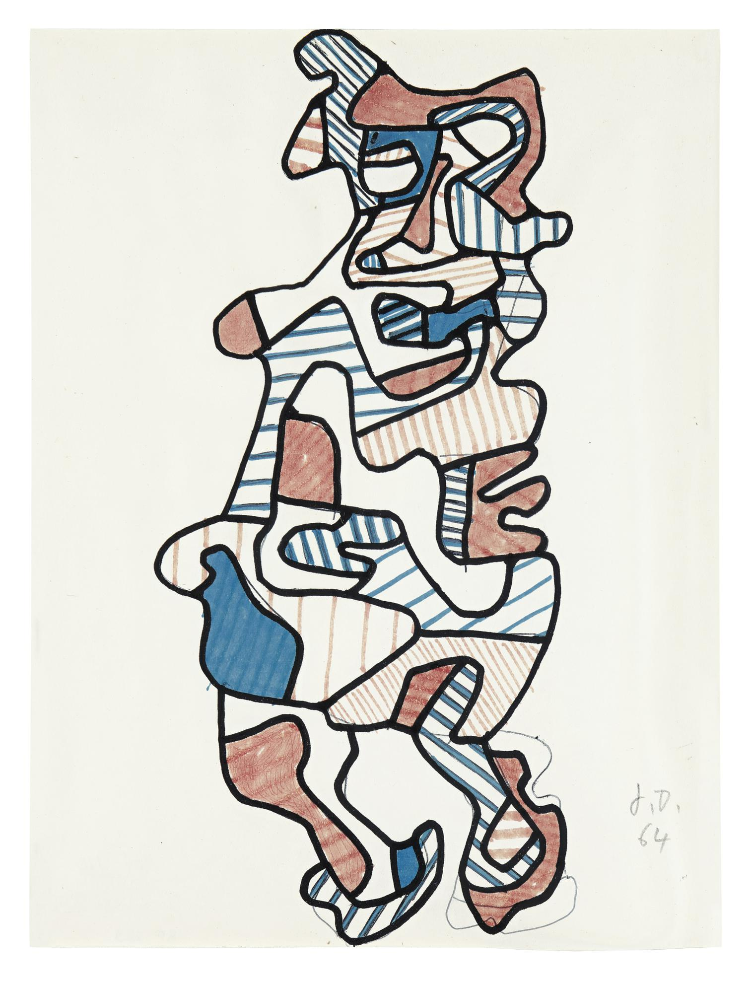 Jean Dubuffet-Personnage Xiii-1964