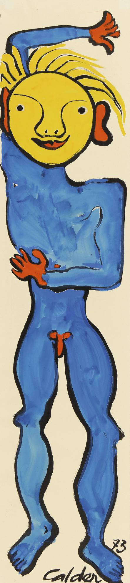 Alexander Calder-The Blue Boy-1973