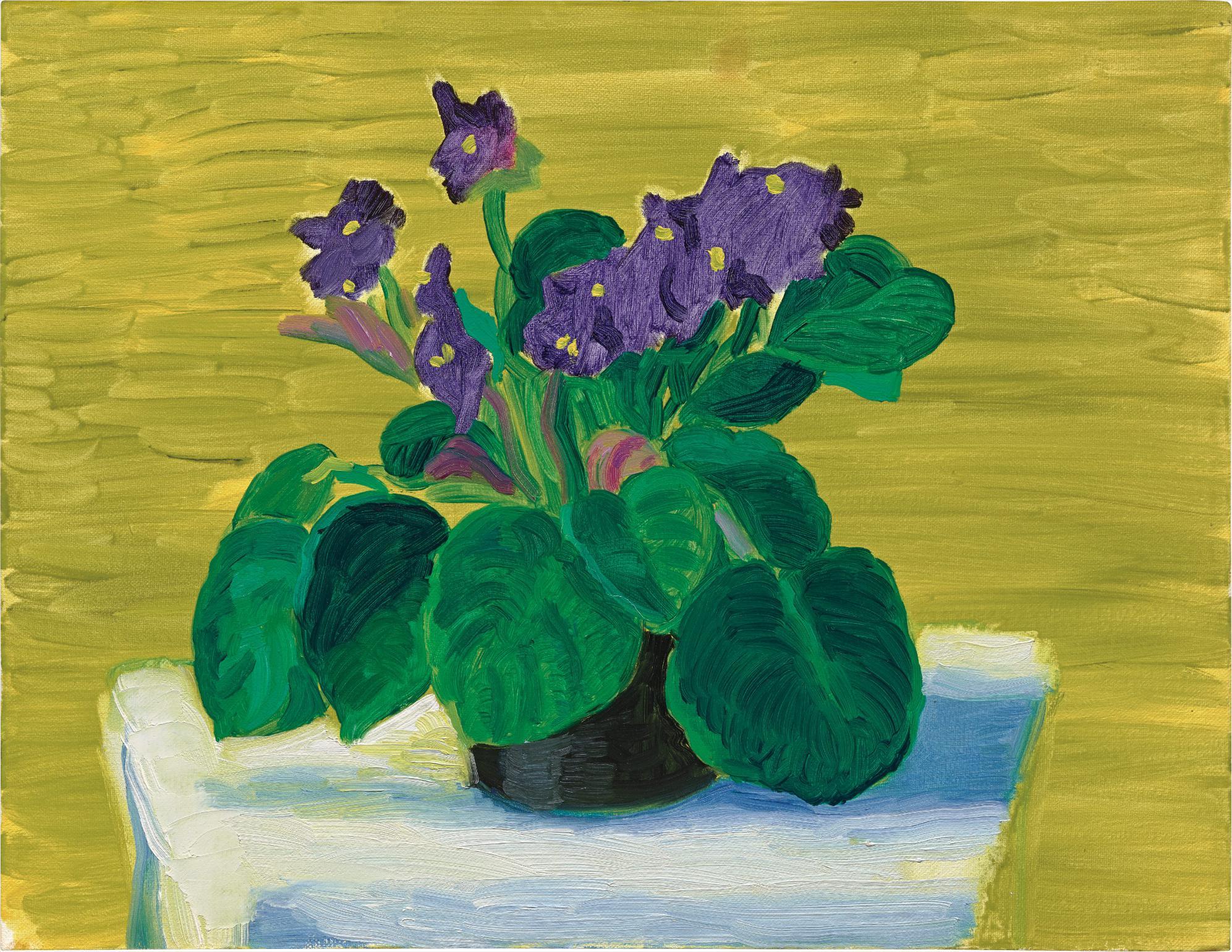 David Hockney-Bridlington Violets-1989