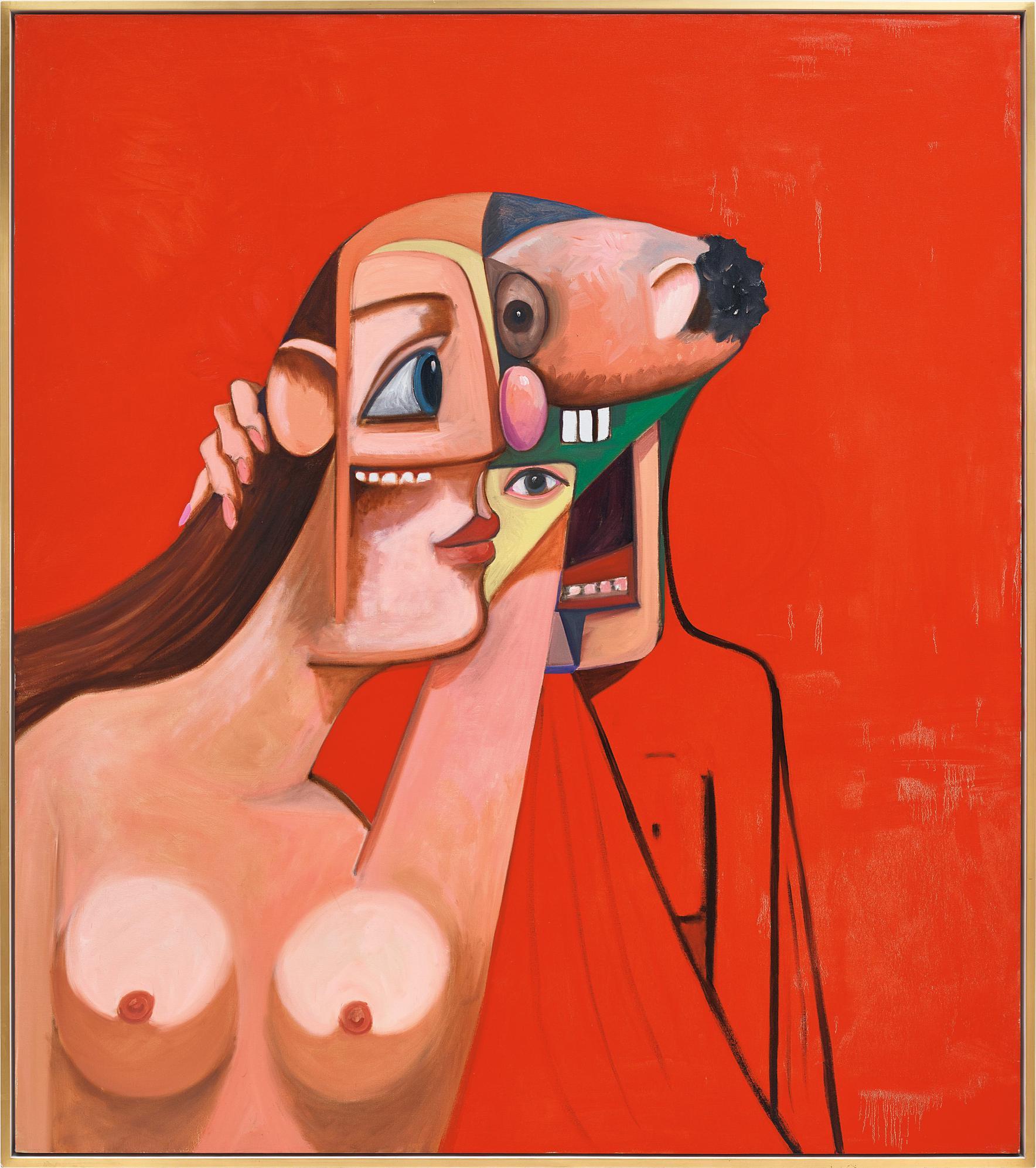 George Condo-Woman & Man-2008