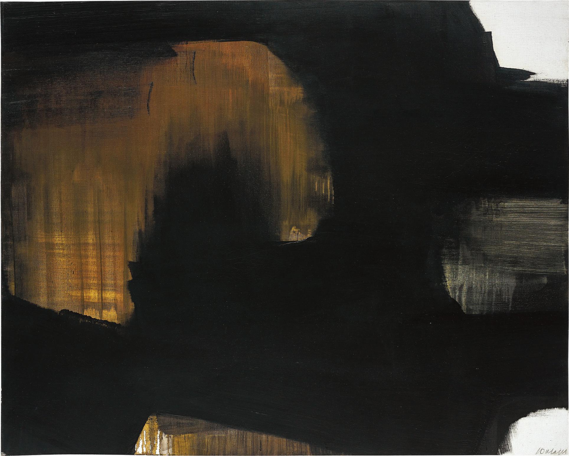 Pierre Soulages-Peinture 130 X 162 Cm, 12 Mai 1965-1965